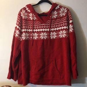 NWOT winter pattern knit hoodie